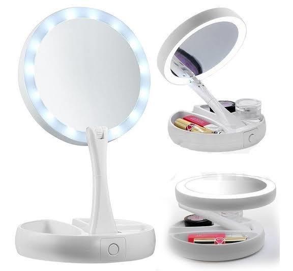 Espelho Led Aumento 10X Dupla Face