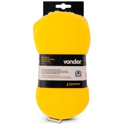 Esponja de Microfibra Multiuso Vonder - Amarela