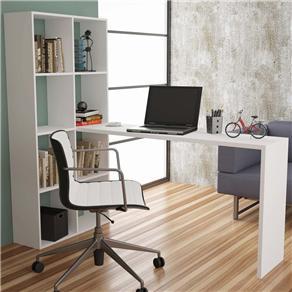 Estante com Escrivaninha BRV Móveis BE 38 - Branco