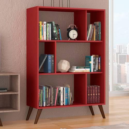 Estante para Livros Baixa Rt 3015 Vermelho - Móvel Bento