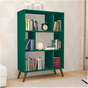 Estante para Livros MovelBento RT3015 Retrô com 6 Nichos e Pés de Plástico - Verde