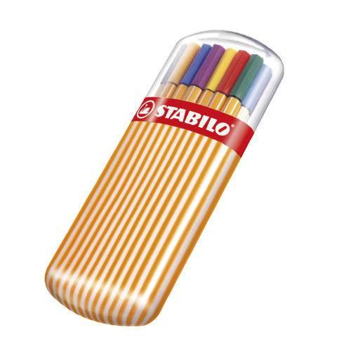 Estojo Caneta Point 88 com 15 + 5 Cores Neon - Stabilo