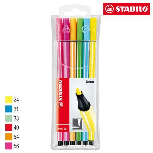 Tudo sobre 'Estojo Caneta Stabilo Neon Pen 6806-1'