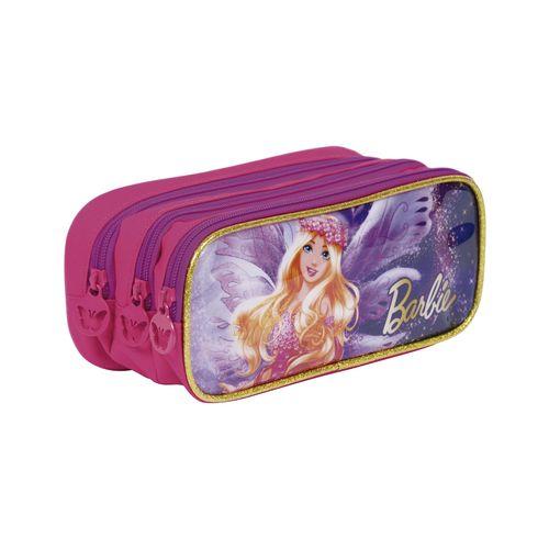 Estojo 3 Compartimentos Barbie Dreamtopia