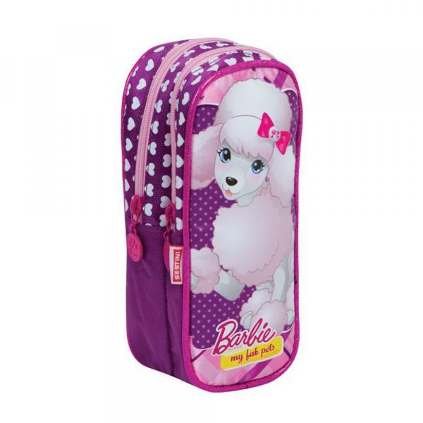 Estojo 2 Compartimentos Barbie Pets 14Y Dog - Sestini - Barbie