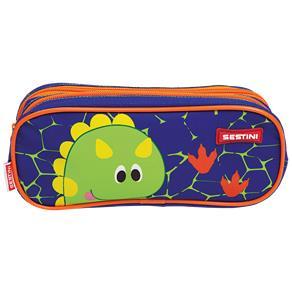 Estojo 2 Compartimentos Sestini Kids X Dino Colorido Sestini
