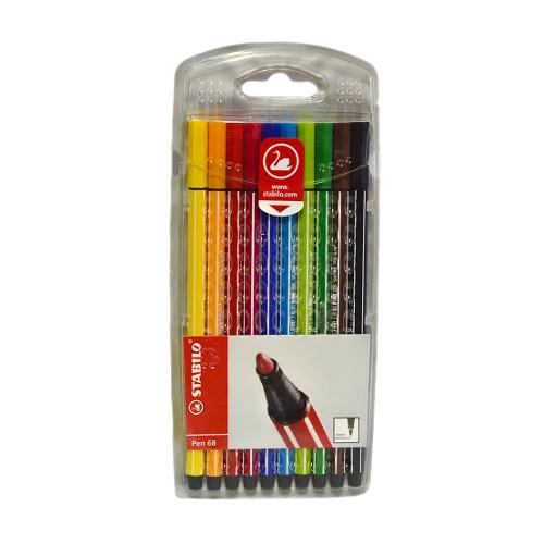 Estojo de Canetas Stabilo Pen 68 1mm com 10 Cores