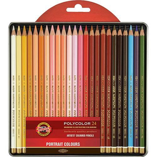 Tudo sobre 'Estojo Lápis de Cor Artístico Polycolor 24 Cores Seleção Retrato - Koh-I-Noor'