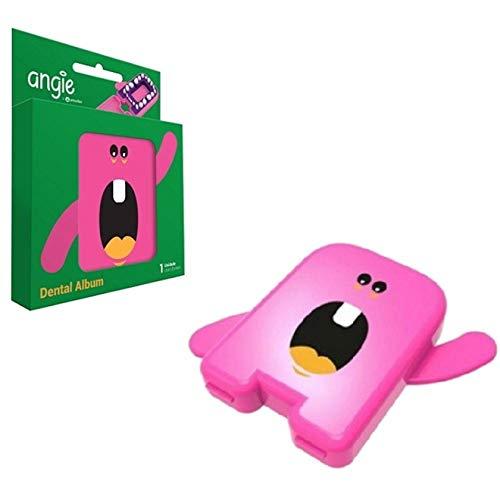 Estojo Porta Dente de Leite - Album Dental - Rosa - Angie By Angelus