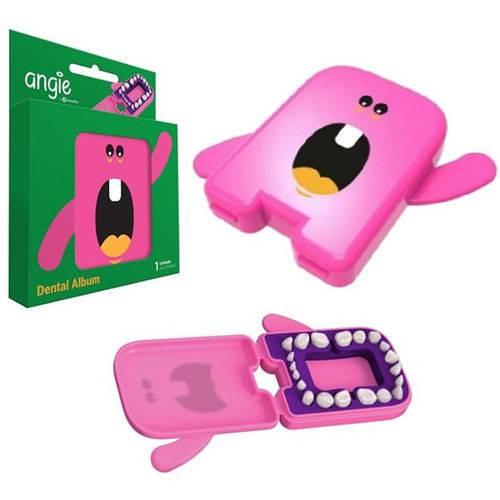 Estojo Porta Dente de Leite Rosa Angie