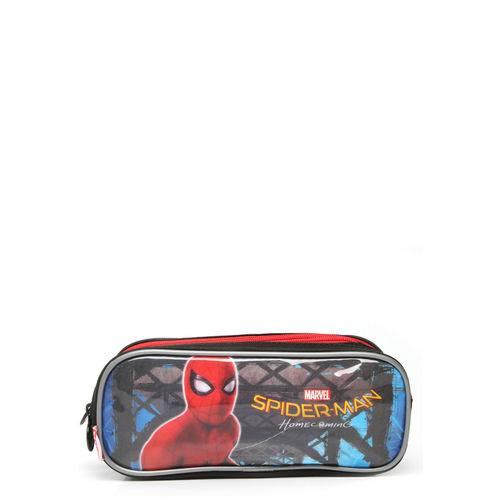 Estojo Sestini 3 Compartimentos Spiderman 18Z Preto/Vermelho