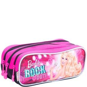 Estojo Triplo Barbie Rock N Royals Rosa Sestini