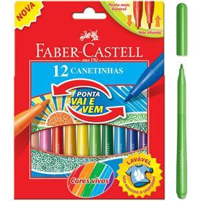 Estojo Vai e Vem 12 Cores Hidrocor Faber Castell