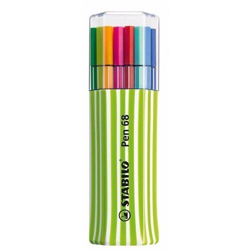 Estojo Verde - Caneta Stabilo Pen 68 com 15 Cores