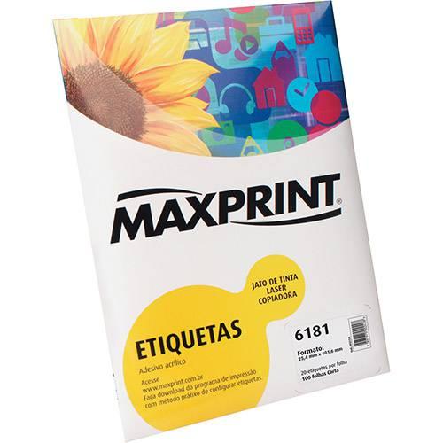 Tudo sobre 'Etiqueta para Impressora de Tinta e Laser 6181 (25,4mmx101,6mm) 100 Folhas - Maxprint'