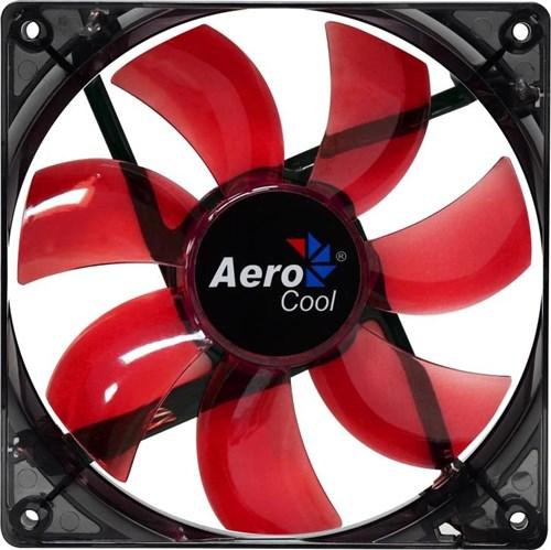 Fan Aerocool P/ Gabinete 120X120X25 Led Red En51363