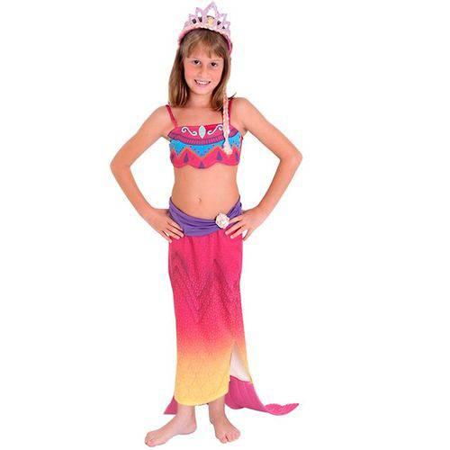 Tudo sobre 'Fantasia Barbie Vida de Sereia 2 Infantil Luxo - P 2 - 4'