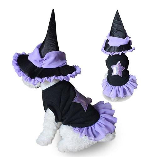 Fantasia de Bruxa para Pets / P
