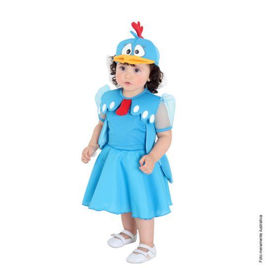 Fantasia Galinha Pintadinha Vestido Bebê P