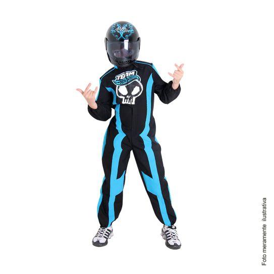 Tudo sobre 'Fantasia Hot Wheels Azul Luxo P'