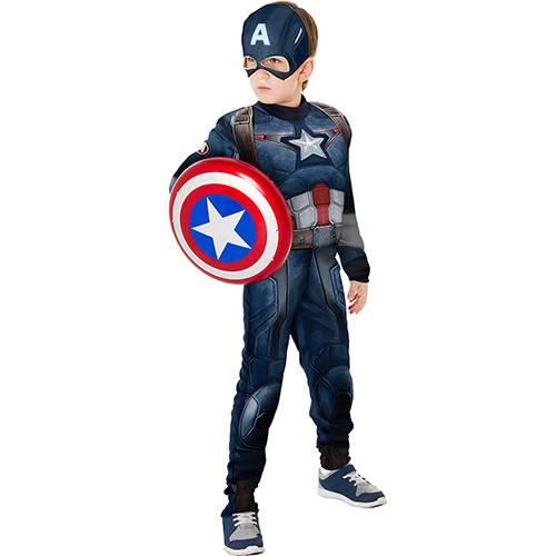 Tudo sobre 'Fantasia Infantil Capitão América Longa com Escudo - Rubies'