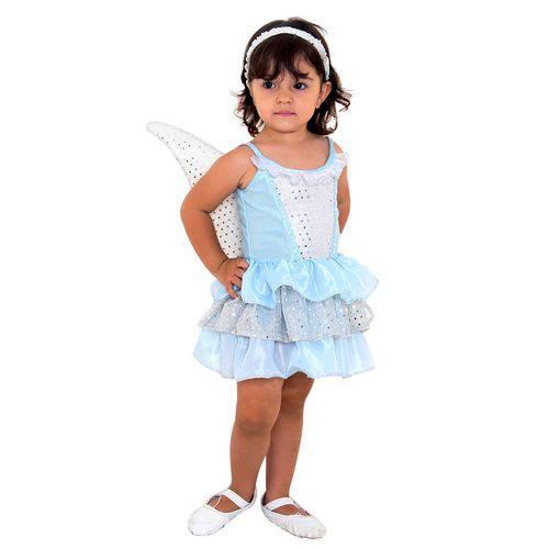 Tudo sobre 'Fantasia Infantil Sulamericana Luxo Fadinha P Azul e Branco'