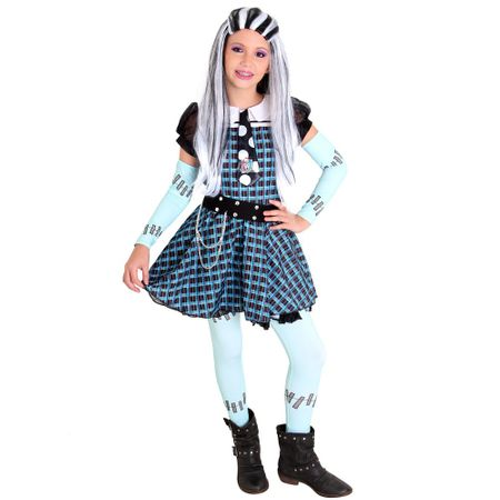 Tudo sobre 'Fantasia Luxo Monster High Frankie Xadrez - G'