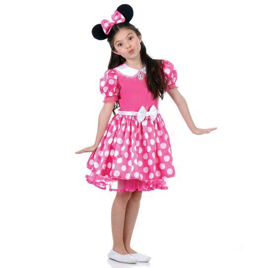 Tudo sobre 'Fantasia Minnie Disney Infantil Rosa P'
