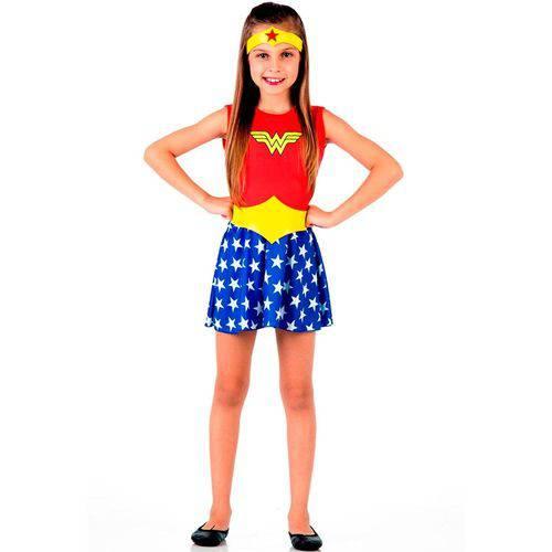 Tudo sobre 'Fantasia Super Mulher Infantil'