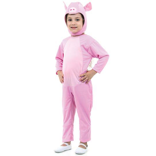 Tudo sobre 'Fantasia Porco Rosa Infantil P'