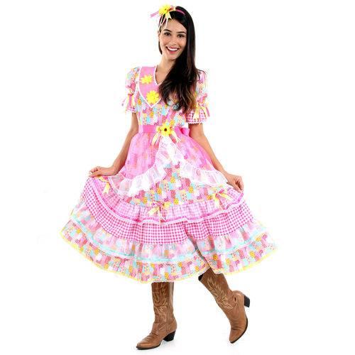 Tudo sobre 'Fantasia Vestido Junina Ana Adulto - Festa Junina'
