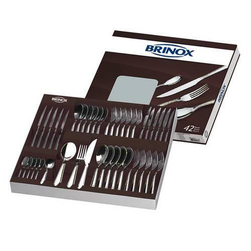 Faqueiro Bellagio 42 Peças Aço Inox 5103/118 Brinox