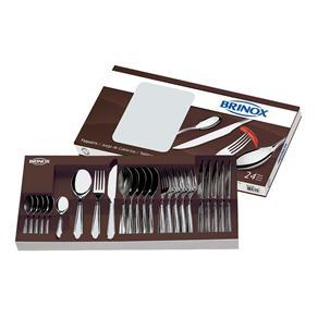 Faqueiro Brinox Bellagio em Aço Inox 5103/102 - 24 Peças