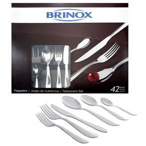 Faqueiro Brinox Bellagio em Aço Inox 5103/118 - 42 Peças