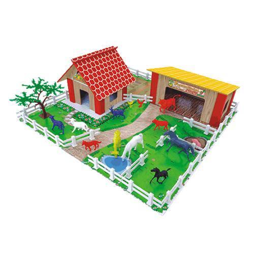 Tudo sobre 'Fazendinha de Brinquedo Junges 60 Peças'