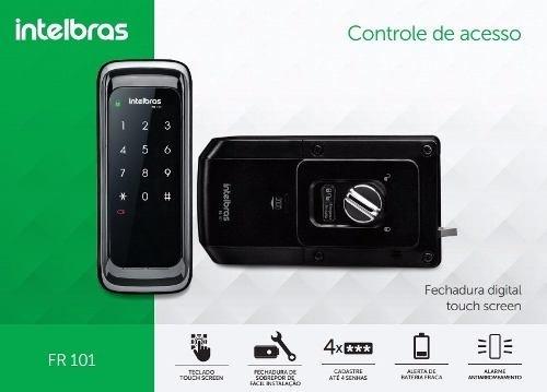 Fechadura Touch Senha Digital Intelbras Fr101
