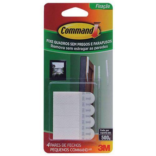 Fecho Adesivo 3M Command Branco Tamanho Pequeno 4 Peças