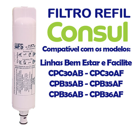 Filtro Refil para Purificador de Água Consul (Todos)