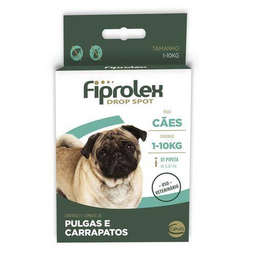 Tudo sobre 'Fiprolex Drop Spot 1 a 10 Kg Ceva'