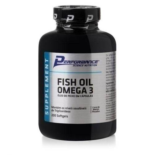 Tudo sobre 'Fish Oil Ômega 3 1000mg 200 Cápsulas - Performance'