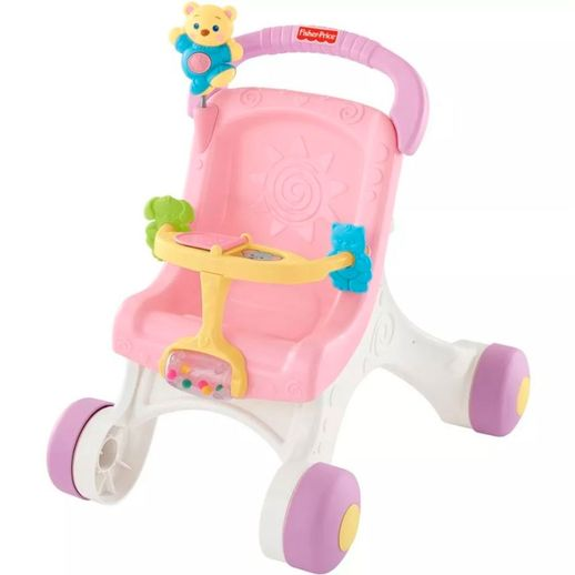 Fisher Price Andador Primeiro Carrinho de Bebê - Mattel