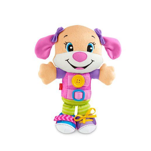 Fisher Price Cachorrinhos Hora de Vestir Rosa Aprender e Brincar - Mattel