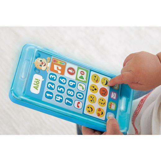 Tudo sobre 'Fisher Price Telefone com Emojis Azul - Mattel'