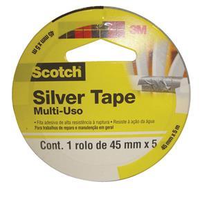 Fita Adesiva Silver Tape 3939 45mm X 5m Scotch 3M