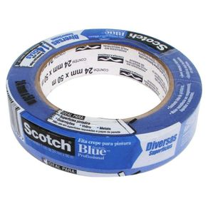 Fita Crepe 2,4cmX50M Prof. P/ Pintura Scotch Blue 3M