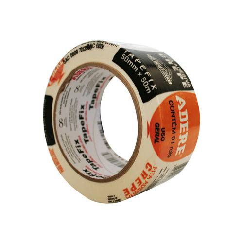 Fita Crepe Adere Tape Fix 050 Mm X 050 M 427 50x50