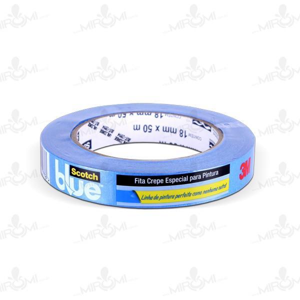 Fita Crepe 3M 018 Mm X 050 M Azul H0002317784