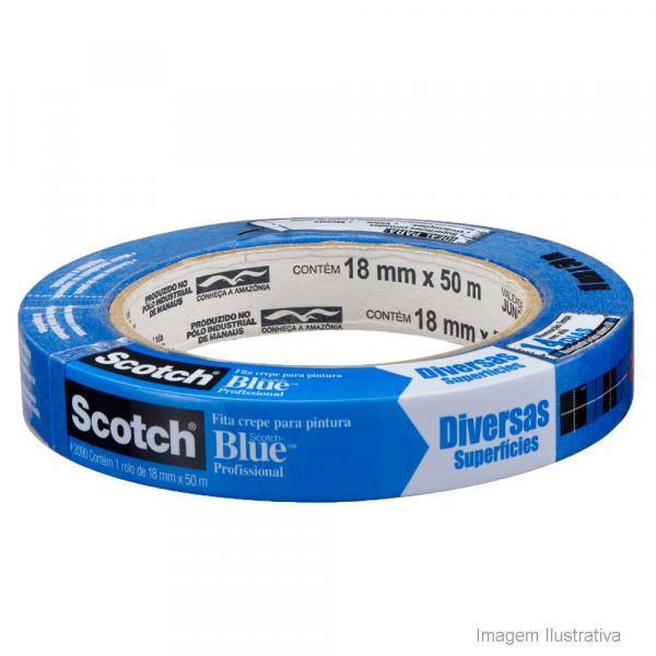 Fita Crepe Scotch Blue 18mm X 50m H0002317784 - 3m
