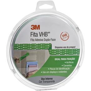 Fita Dupla Face 12mm X 10m Vhb 4910 Cs Transparente 3m