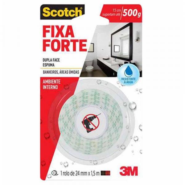 Fita Dupla Face 24x1,0 Fixa Fort Banheiro / Un / 3m